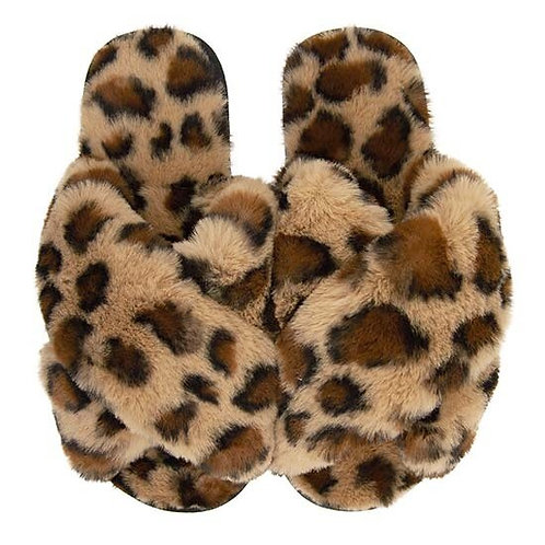 BY CHANCE BROWN LEOPARD SLIPPERS