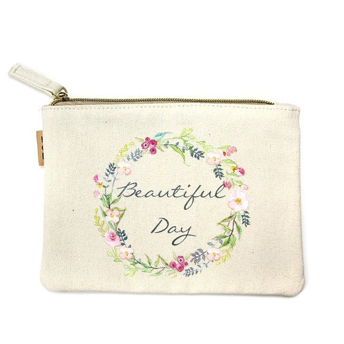 BY LOVE OF FASHION ECO BEAUTIFUL DAY ZIP UP BAG