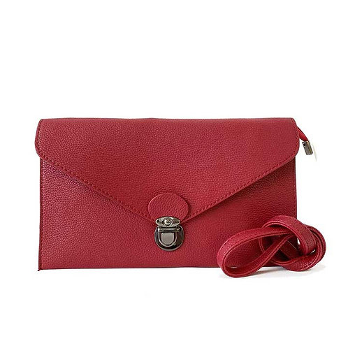 CARACOL RECTANGLE CROSS BODY CLUTCH RED