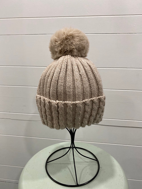 BY CHANCE BEIGE TOQUE NOT LINED