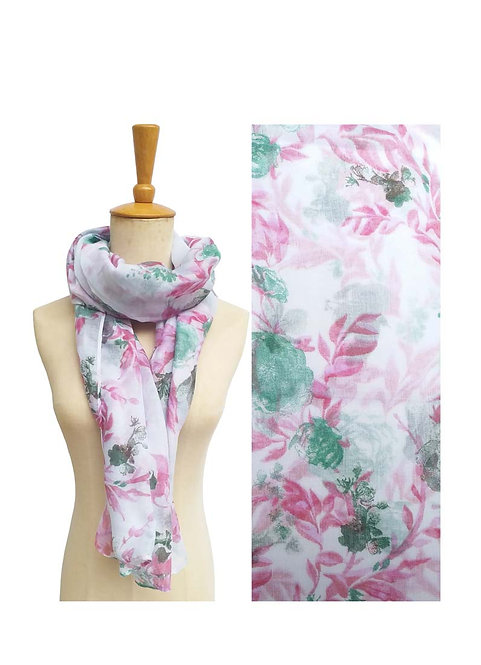 PASSIONS LIGHT WEIGHT SCARF LILAC FLORAL