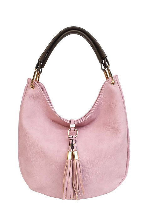 PASSION PINK LILAC PURSE WITH FRINGE