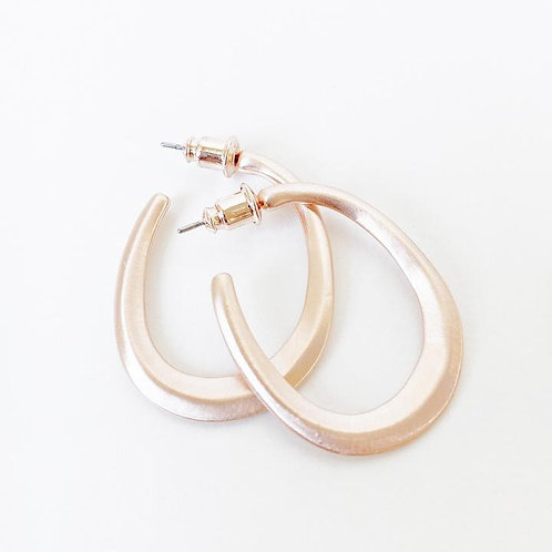 CARACOL ROSE GOLD EARRING 2438