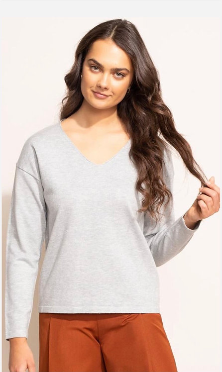 PINK MARTINI THE BRIELLE TOP GREY