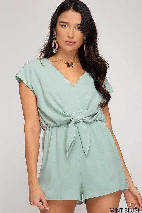 SHE AND SKY ROMPER MINT BLUSH