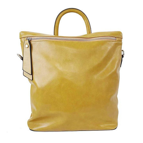 CARACOL BACKPACK PURSE YELLOW