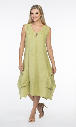 CHERISHH LIME 2 POCKET DRESS