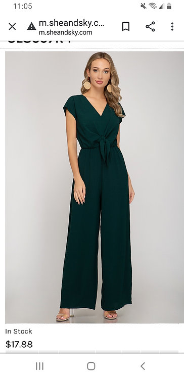 SHE AND SKY JUMPSUIT SEAGREEN