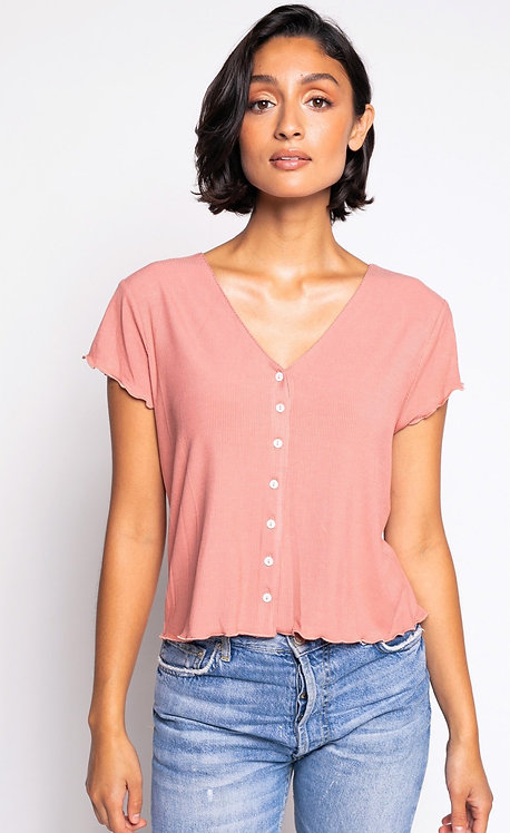 PINK MARTINI THE MAEVE TOP DUSTY PINK