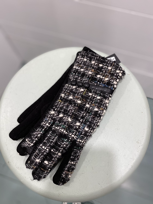 BY CHANCE BLACK TEXTING GLOVES WITH 3 BUTTONS