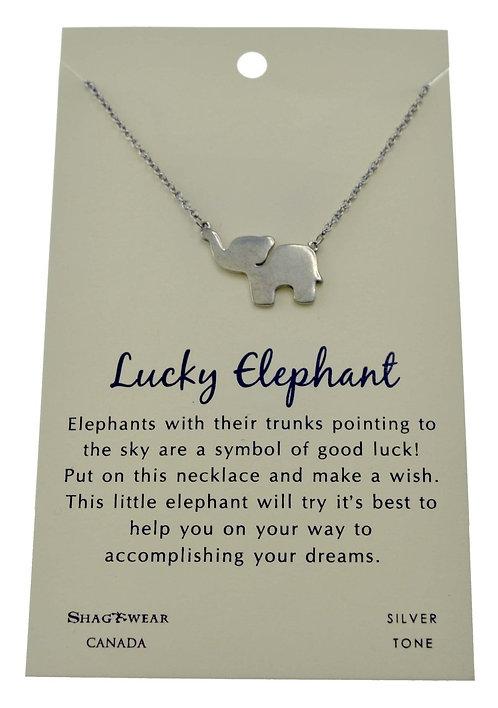 SHAGWEAR LUCKY ELEPHANT NECKLACE