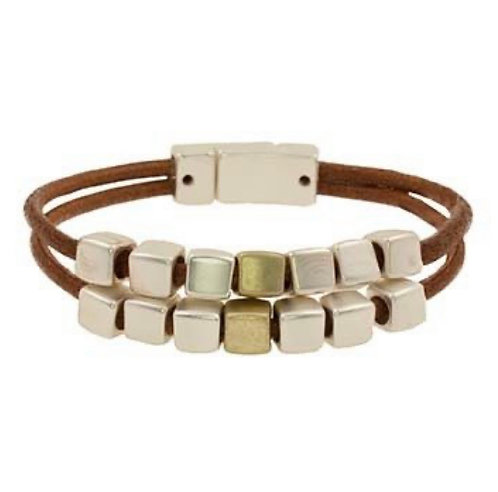 BY CHANCE MAGNETIC WRAP BRACELET BROWN