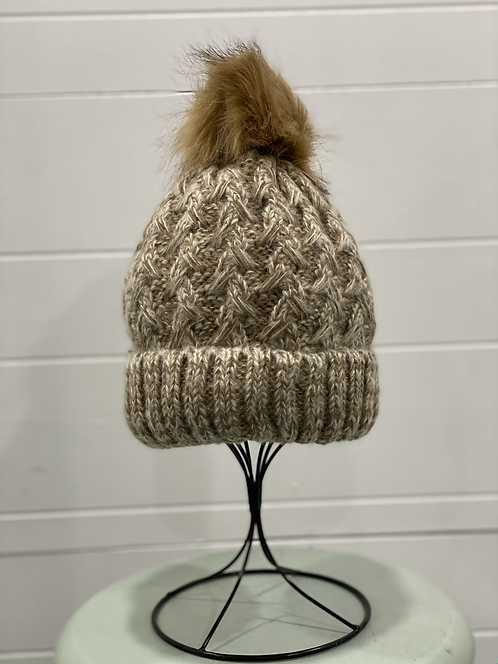 TAUPE/BROWN TOQUE