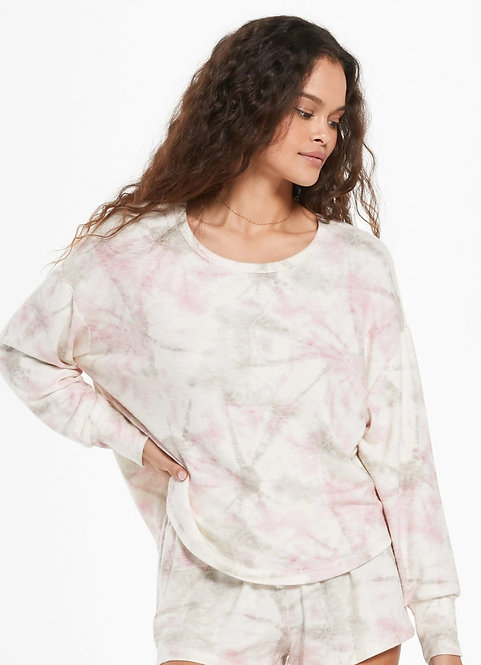 Z SUPPLY SUN RAY FADED TIE-DIE PULLOVER