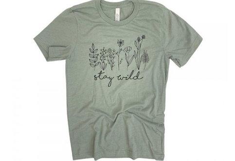 STAY WILD TEE GREEN