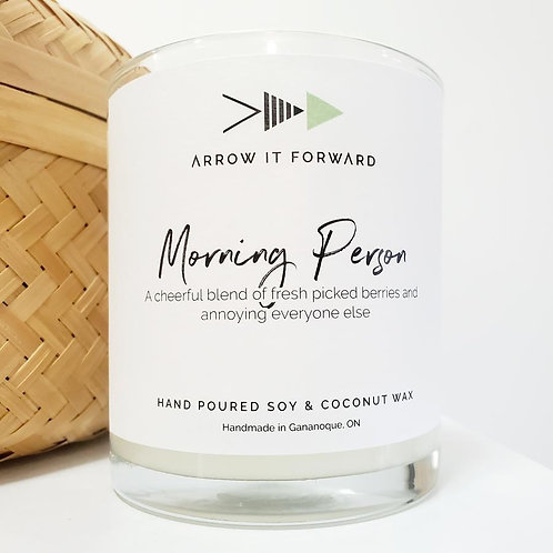 ARROW IT FORWARD MORNING PERSON 8oz CANDLE