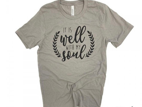 IT IS WELL WITH MY SOUL TEE STONE