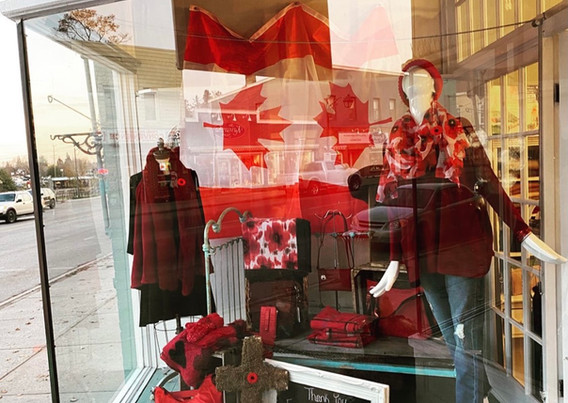 The Butterfly Boutique Remembrance Day Window 2020