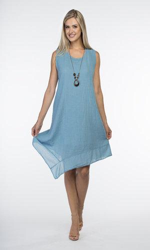 CHERISHH BLUE COTTON DRESS