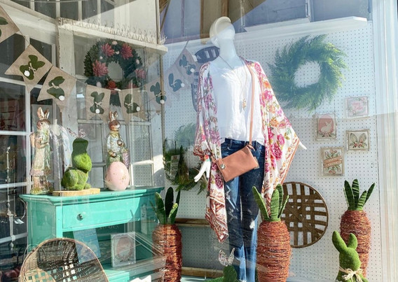 The Butterfly Boutique Easter Window 2021
