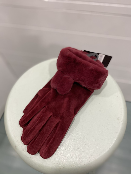 MEMORIES RED VELVET TEXTING GLOVES