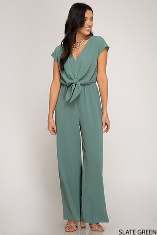 SHE AND SKY JUMPSUIT SLATE GREEN