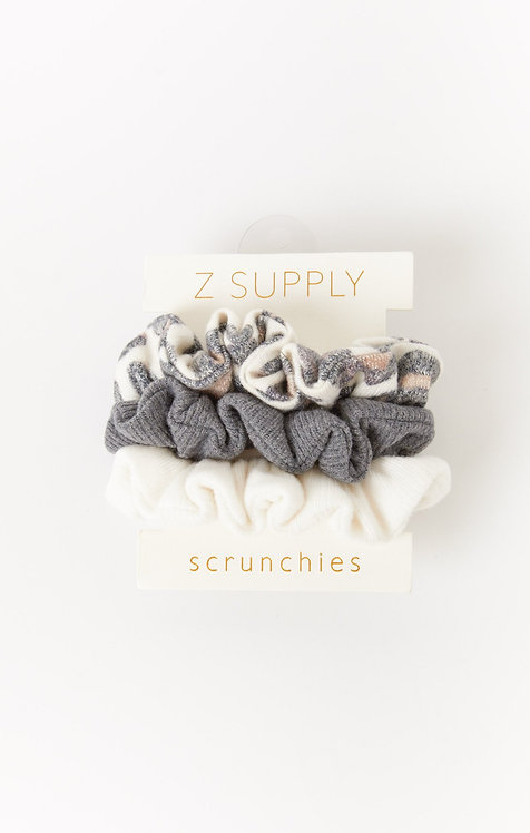 Z SUPPLY BRUSHED LEOPARD SCRUNCHIES (3-PACK)