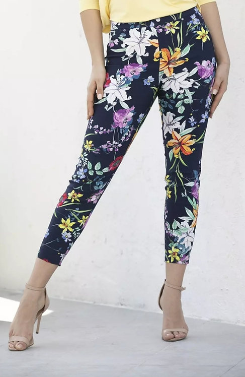 FASHION VILLAGE MULTI COLOUR FLORAL ANKLE PANT