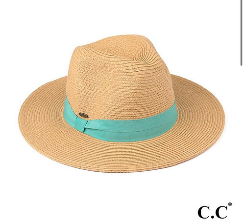 SUNHAT WITH TEAL DETAIL