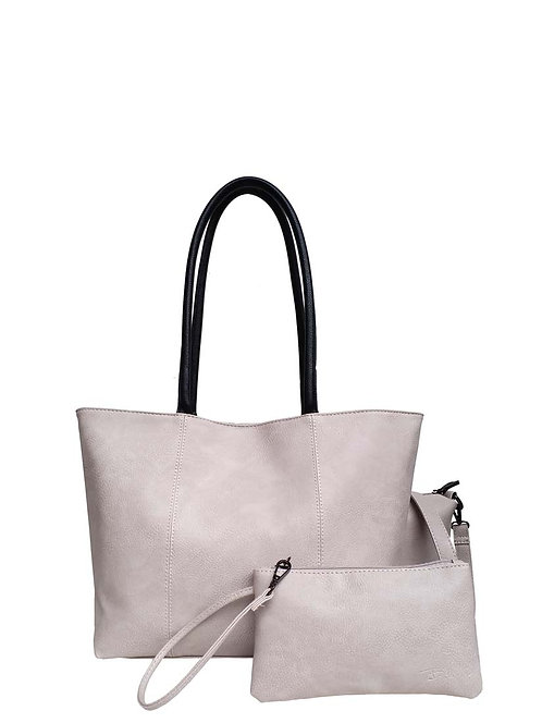 PASSIONS LIGHT LILAC HANDBAG WITH SMALL CLUTCH