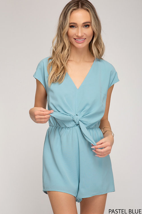 SHE AND SKY PASTEL BLUE ROMPER