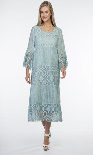 CHERISHH MINTY GREEN COTTON DRESS