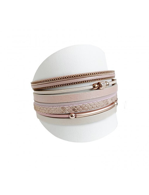 CARACOL MAGNETIC BRACELET THICK NUDE
