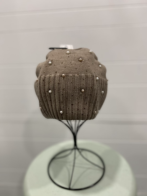TAUPE PEARL HAT