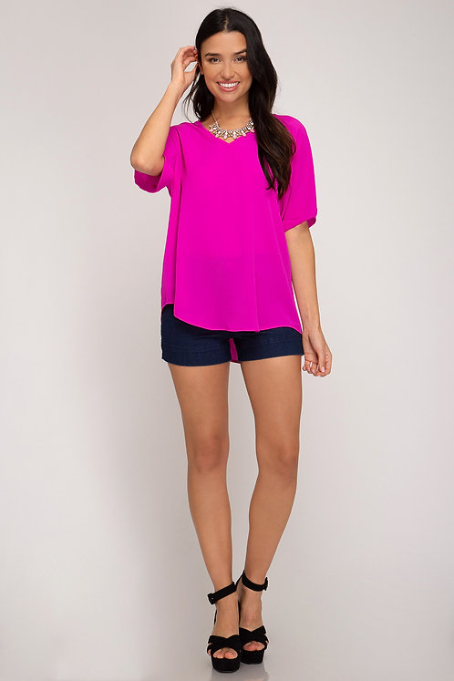 SHE AND SKY HOT PINK TEE
