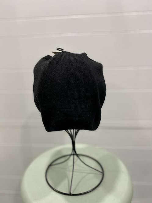 PICABO BLACK HAT WITH BACK RUCHING