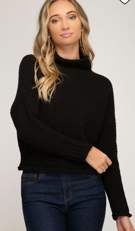 SHE AND SKY CHUNKY KNIT SWEATER