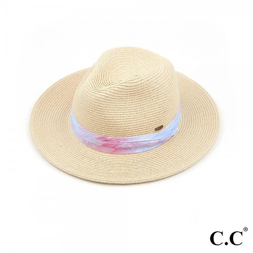 SUNHAT BLUE AND PINK TIE DYE FABRIC BAND