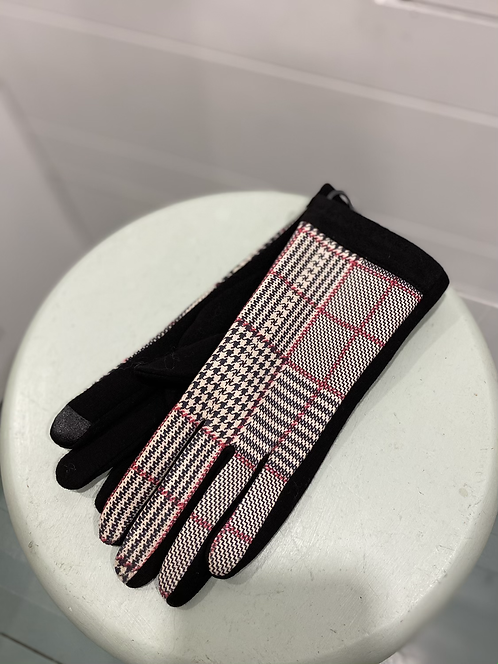 BY CHANCE PINK PATTERN TEXTING GLOVES