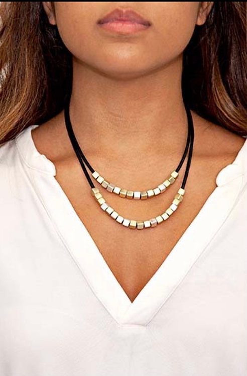 BY CHANCE MAGNETIC CLASP NECKLACE BLACK