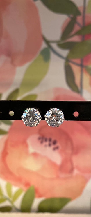 LARGE CIRCLE SPARKLE EARRINGS