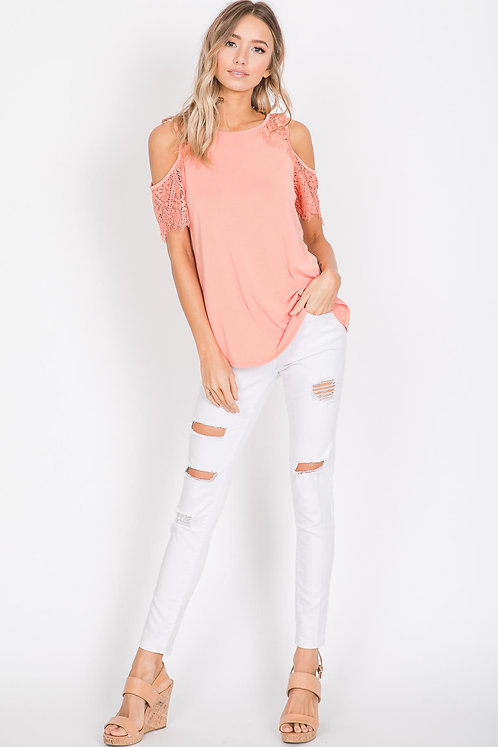 HAILEY & CO CORAL LACE TANK