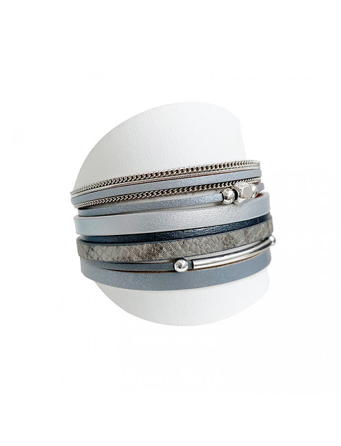 CARACOL MAGNETIC BRACELET THICK GREY