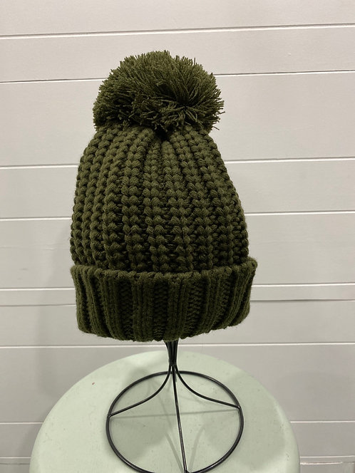 OLIVE TOQUE NOT LINED