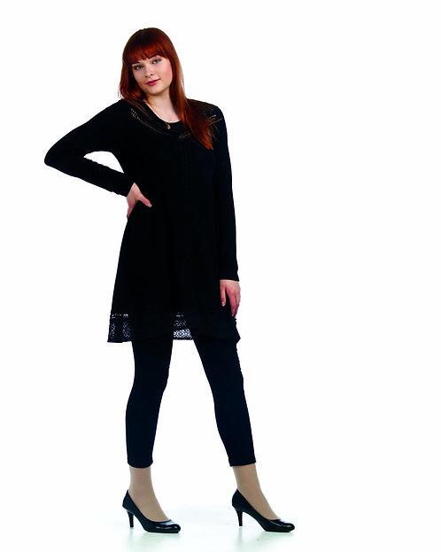PAPILLION LACE FRONT BLACK DRESS