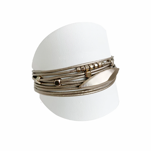 CARACOL COFFEE WRAP BRACELET