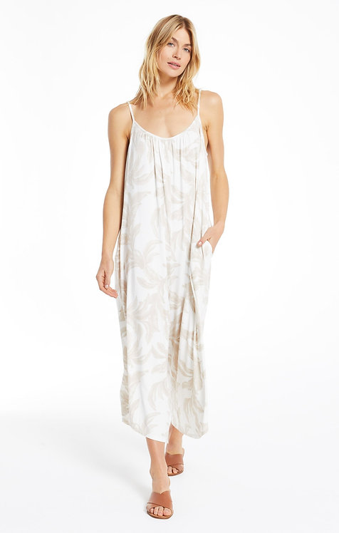 Z SUPPLY TIRA PALM FLARED JUMPSUIT