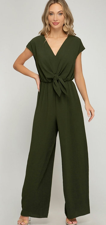 SHE AND SKY JUMPSUIT OLIVE