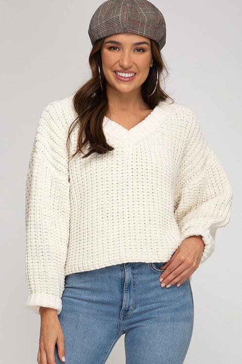 SHE AND SKY KNIT SWEATER CREAM