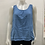 Thumbnail: BEYOND CAPRI MADE IN ITALY BLUE TANK WITH CROCHET BACK